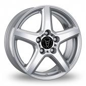 Wolfrace B Silver Alloy Wheels
