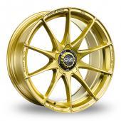 OZ Racing Formula HLT 5 Stud Gold Alloy Wheels