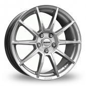 Momo Rush Hyper Silver Alloy Wheels