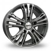 Calibre Odyssey Gun Metal Polished Alloy Wheels