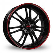 Dotz Shift Pinstripe Matt Black Alloy Wheels