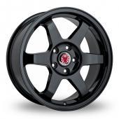 Wolfrace Asia-Tec JDM Black Alloy Wheels