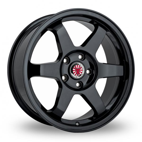 """Picture of 17"""" Wolfrace JDM Satin Black"""