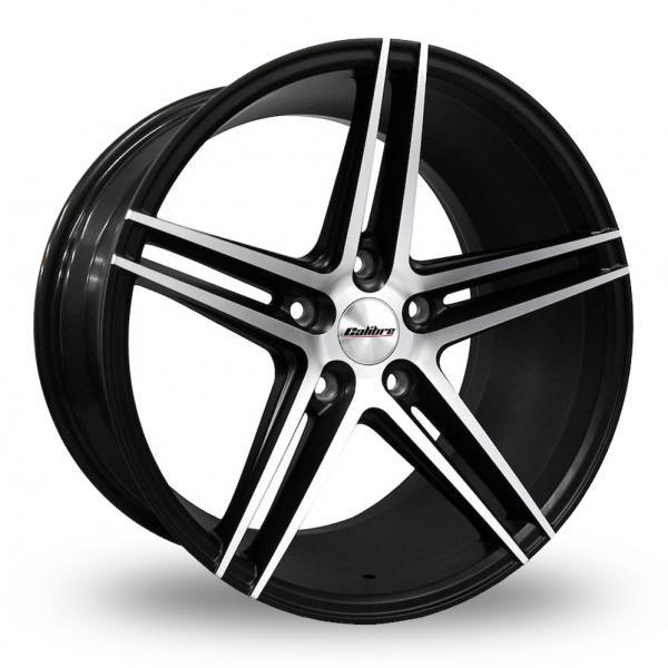 18 Inch Calibre CC-S Matt Black Polished Alloy Wheels