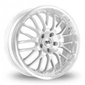 BK Racing 866 Silver Alloy Wheels