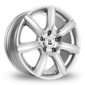 BK Racing 808 Silver Polished Alloy Wheels