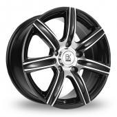 BK Racing 808 Black Polished Alloy Wheels