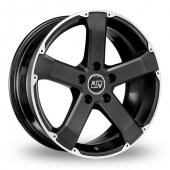 MSW (by OZ) 45 Matt Black Alloy Wheels