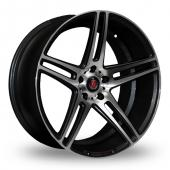 Axe EX12 Black Polished Alloy Wheels