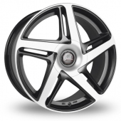 AEZ Airblade Black Polished Alloy Wheels