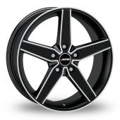 Autec Delano Black Polished Alloy Wheels