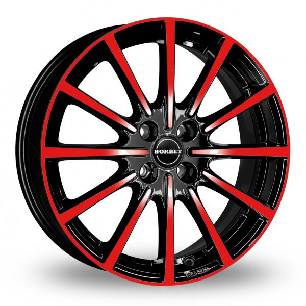 """Picture of 15"""" Borbet BL4 Black Red"""