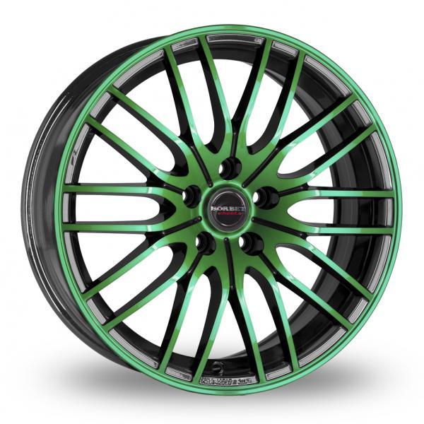Borbet CW4 Black Green
