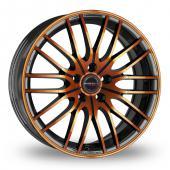 CW by Borbet CW4 Black Orange Alloy Wheels