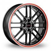 CW by Borbet CW2 R 4 Black Red Alloy Wheels