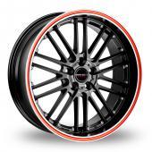CW by Borbet CW2 R 5 Black Red Alloy Wheels