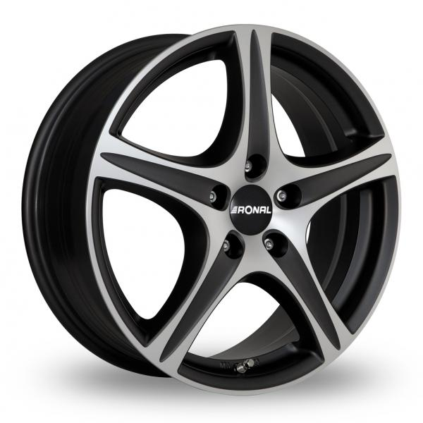 "Picture of 16"" Ronal R56 Trend Matt Black Polished"