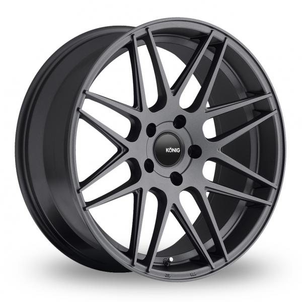 "Picture of 18"" Konig Integram Matt Graphite Wider Rear"