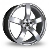 Riva FWD Hyper Silver Alloy Wheels