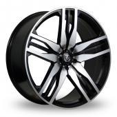 Axe EX22 Black Polished Alloy Wheels
