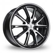 BK Racing 201 Black Polished Alloy Wheels