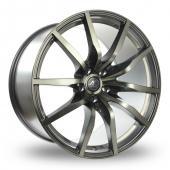 AC Wheels Swagger Wider Rear Gun Metal Polished Alloy Wheels