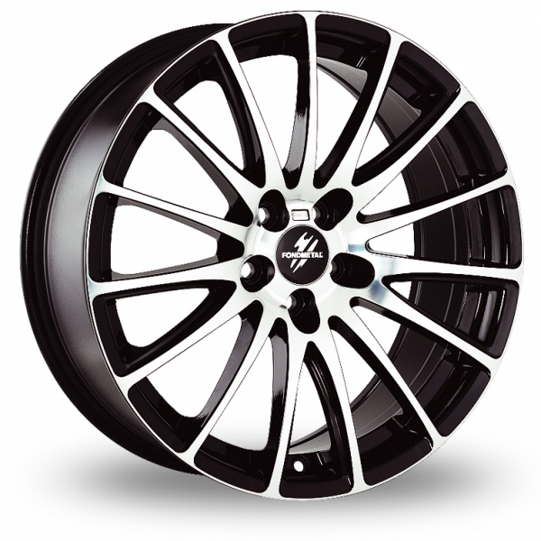 "Picture of 17"" Fondmetal 7800 Glossy Black Machined Face"