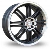 Samurai SC03 Black Polished Alloy Wheels