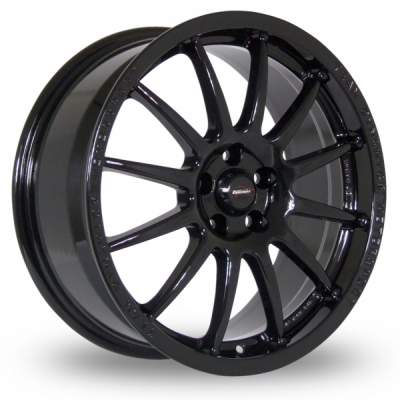 17 Inch Team Dynamics Pro Race 1 2 Black Alloy Wheels