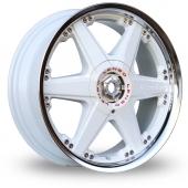 Lenso Reizen White Polished Alloy Wheels