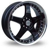 Lenso RS5 Black Alloy Wheels