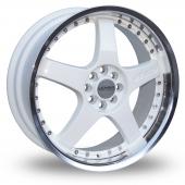 Lenso RS5 White Polished Alloy Wheels