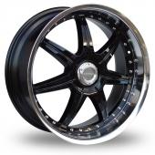 Lenso S73 Black Polished Alloy Wheels
