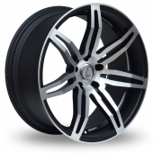 Lenso Conquista Black Polished Alloy Wheels