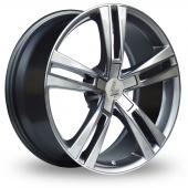 Lenso ES6 Silver Polished Alloy Wheels
