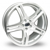 Diamond Equinox Silver Polished Alloy Wheels
