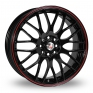 16 Inch Calibre Motion 2 Black Red Alloy Wheels
