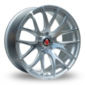 Axe CS Lite 5x120 Wider Rear Silver Polished Alloy Wheels