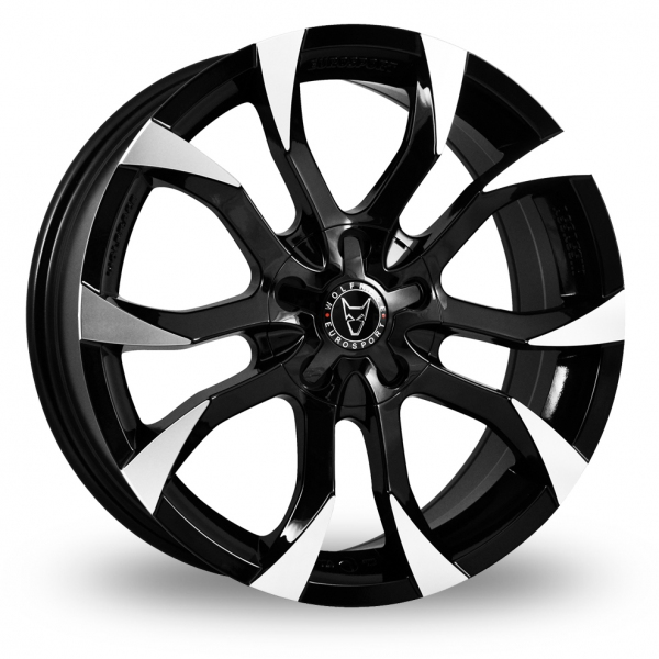 19 Inch Wolfrace Assassin Black Polished Alloy Wheels