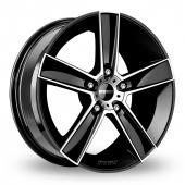 Momo Strike 2 Black Polished Alloy Wheels