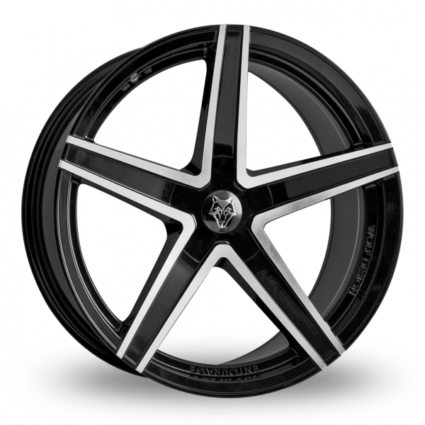 Wolf Design Entourage Black Polished 20 Wider Rear Alloy Wheels Wheelbase