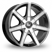 CW by Borbet CWE Anthracite Polished Alloy Wheels