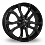19 Inch Wolfrace Assassin Black Alloy Wheels