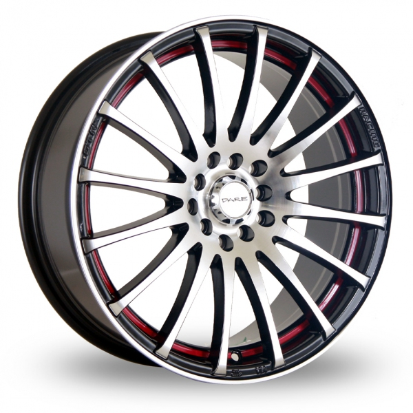 "Picture of 17"" Dare GTR Black Polish Red Stripe"