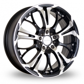 Dare Ghost Black Polished Alloy Wheels