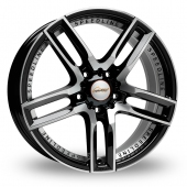 Speedline Imperatore Black Polished Alloy Wheels