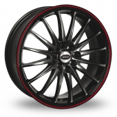Team Dynamics Jet RS Black Red Alloy Wheels