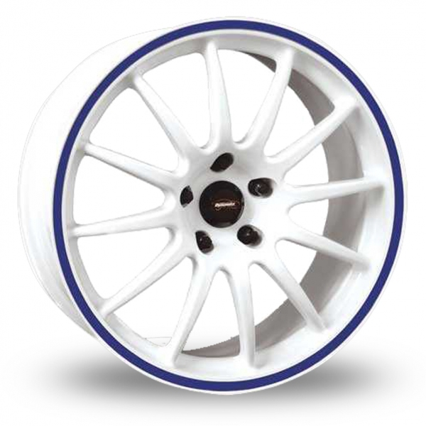 team dynamics pro race 1 2s white blue 16 alloy wheels. Black Bedroom Furniture Sets. Home Design Ideas