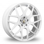 Cades Bern White Alloy Wheels