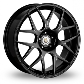 Cades Bern Accent Black Polished Alloy Wheels